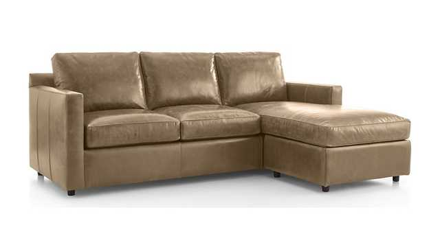 Barrett Leather Right Arm Lounger - Crate and Barrel