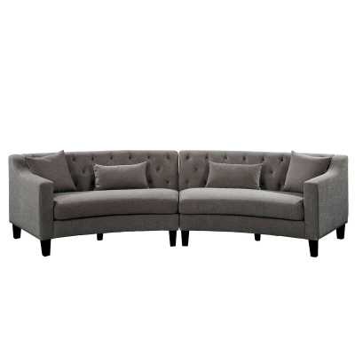 "Stamant 102"" Symmetrical Curved Sectional with Ottoman - Wayfair"