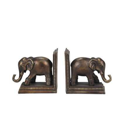 Elephant Book Ends (Set of 2) - Wayfair