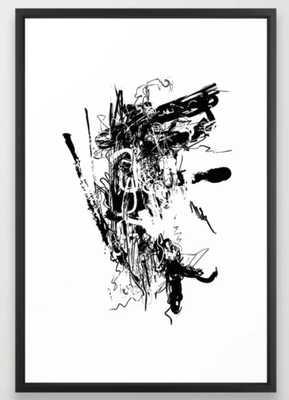 Spider #02 - Black and White Abstract Art, Art Prints Framed Art Print - Society6