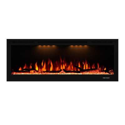 Recessed Wall Mounted Electric Fireplace - Wayfair