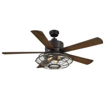 """56"""" WEST LOOP CAGED CEILING FAN - Shades of Light"""