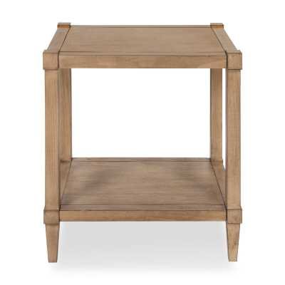 Gretchen Wooden Side Accent End Table with Storage / Light Brown - Wayfair