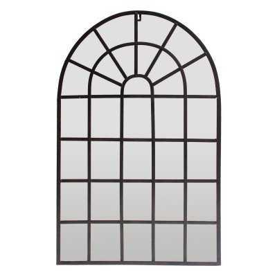 Three Hands Metal Decorative Arched Wall Mirror - 19.25W x 30.25H in. - Hayneedle