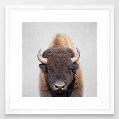 Buffalo - Colorful Framed Art Print - Society6