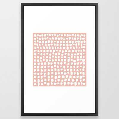 Dots / Pink Framed Art Print - Society6