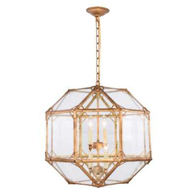 Bromborough 4-Light Unique / Statement Geometric Chandelier - Wayfair