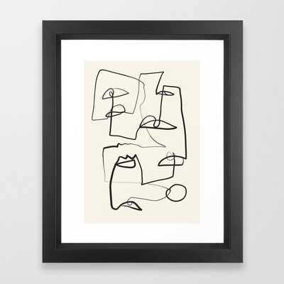 "Abstract line art 12 - vector black - 10"" x 12"" - Society6"