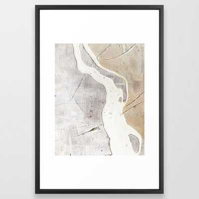 Feels: a neutral, textured, abstract piece in whites - Society6