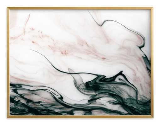 "Ethereal Flow Art Print_ 54"" x 40""_Golden frame - Minted"