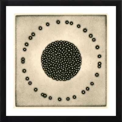 Five Elements - Metal - Contemporary Black Frame 16 x 16 - Artfully Walls