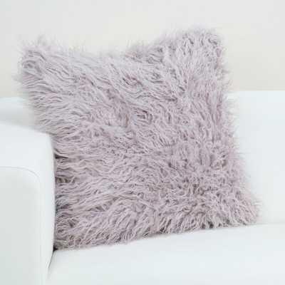 Faux Fur Throw Pillow - Purple 20x20 - Wayfair