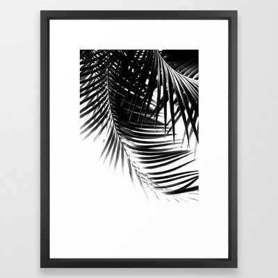 Palm Leaves Black & White Vibes #1 #tropical #decor #art #society6 Framed Art Print - Society6