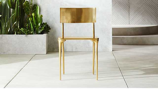 oro gold dining chair - CB2