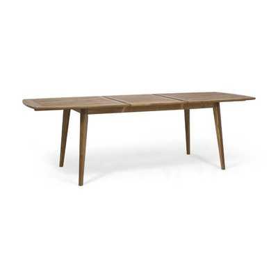 Becker Extendable Wooden Dining Table - Wayfair