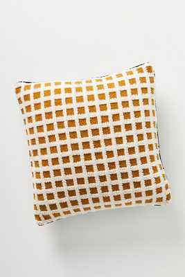 Sherpa Grid Pillow - Anthropologie