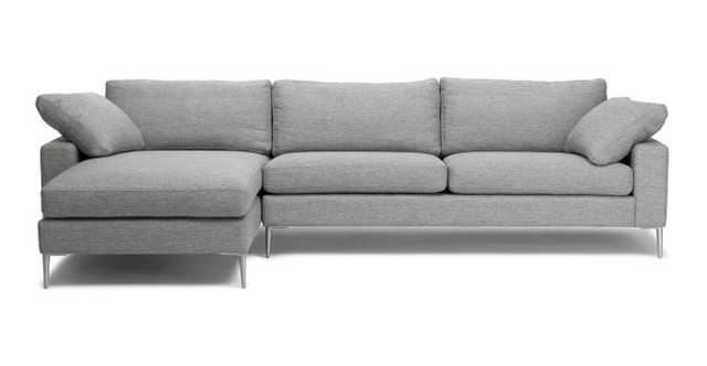 NOVA Left Sectional, Winter Gray - Article