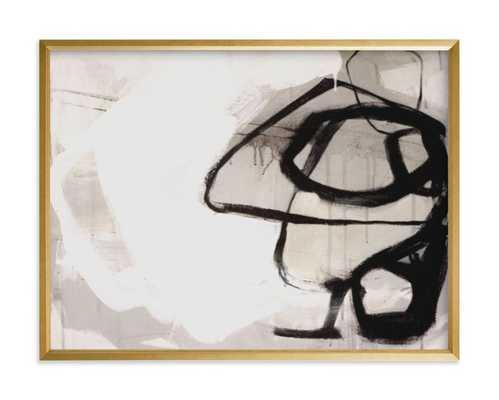 "Black Impact - 24""x18"" - Gilded Wood Frame - Minted"