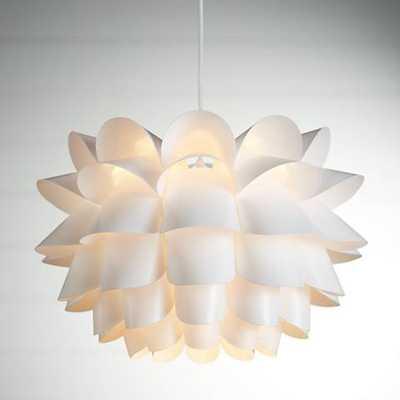 "Possini Euro White Flower 19 1/2"" Wide Pendant Chandelier - Lamps Plus"