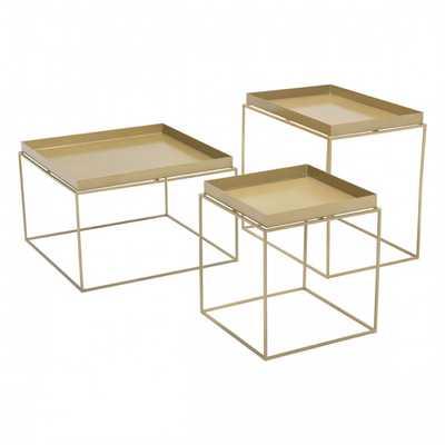 Gaia Nesting Table Gold - Zuri Studios