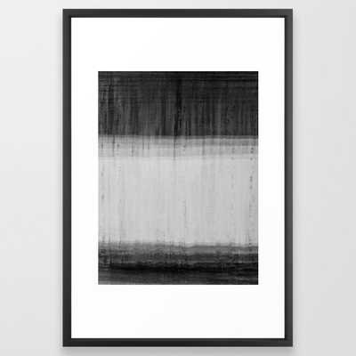 Blur Wall Black and White Abstract Art Framed Art Print - Society6