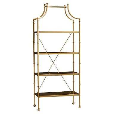 Maison Bookcase, Gold - Pottery Barn Teen
