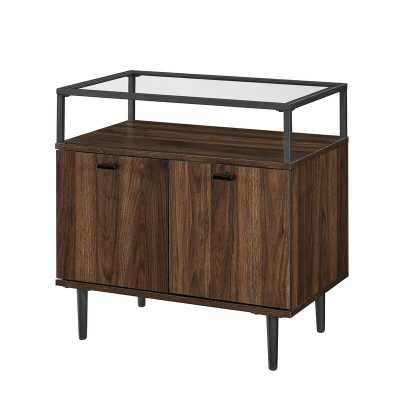 Dark Walnut Drexil 2 Door Apothecary Square Accent Cabinet - Wayfair