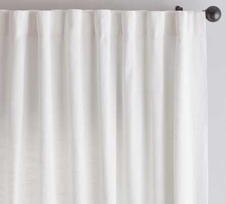 "Emery Linen/Cotton Rod Pocket Curtain - White 50"" x 96"" - Pottery Barn"