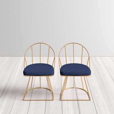 Gillian Upholstered Dining Chair Blue -Set of 2 - AllModern