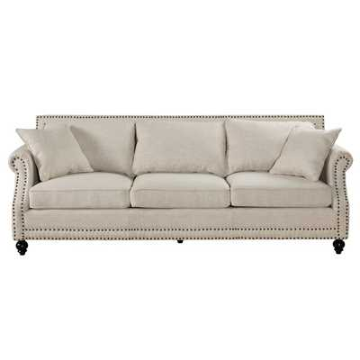 "Beige Cadwell 90.6"" Rolled Arm Sofa - Wayfair"
