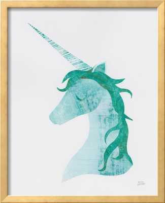 "Unicorn Magic II - 18"" x 24"" Art Print - Ramino Gold Thin 0.75"" Frame - No mat - Standard Acrylic - Art Print Paper - art.com"