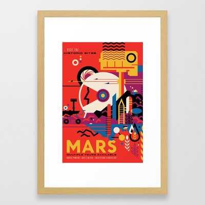 NASA Retro Space Travel Poster #9 Mars - Society6
