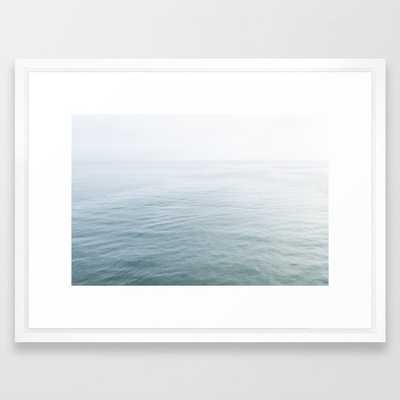 Malibu - Framed Art Print, 20x26 vector white frame - Society6