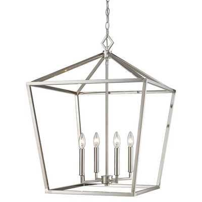 "Poisson 4-Light Lantern Chandelier, 28.5""H - Wayfair"