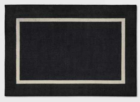 Good Fashion Frame Border Rug - Room Essentials™_Black - Target