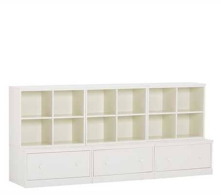 Cameron 3 Cubby; 3 Drawer Base Set, Simply White - Pottery Barn Kids