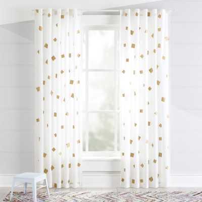 "Gold Confetti 84"" Curtain - Crate and Barrel"