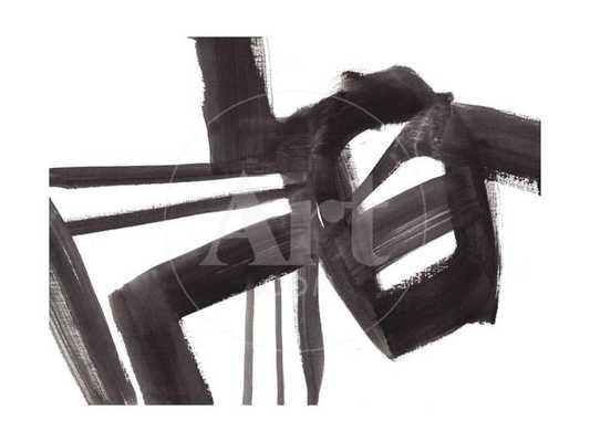 """BLACK AND WHITE ABSTRACT PAINTING 1 Print 12 x 16"""" - art.com"""