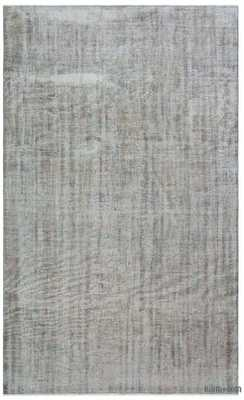 Grey Over-dyed Turkish Vintage Rug - 5'7'' x 9'3'' (67 in. x 111 in.) - Kilim