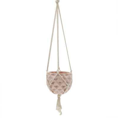 Veliz Macrame Ceramic Hanging Planter - Wayfair
