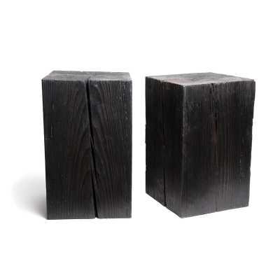Sisneros Solid Wood Block End Table - Wayfair