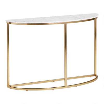 Half Round White Marble Milan Console Table - World Market/Cost Plus