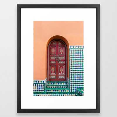 Moroccan Tile Mosaic Door Framed Art Print - Society6