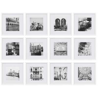Noland 12 Piece Matted Picture Frame Set White Frames - Birch Lane