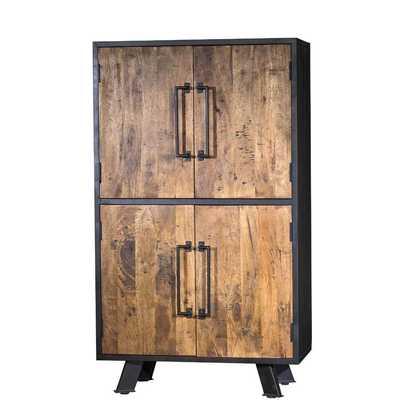 Waseca Solid Wood 4 Door Accent Cabinet - Wayfair