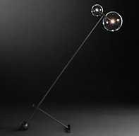 GLASS GLOBE MOBILE BOOM FLOOR LAMP - RH Modern