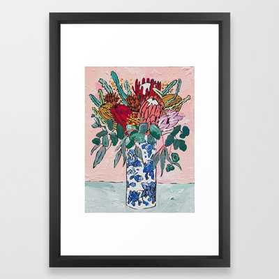 Australian Native Bouquet of Flowers after Matisse Framed Art Print - Society6