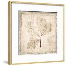 "Stone Leaf III - Ronda Ii Gold - 16"" x 16"" -  2.5"" Crisp - Bright White Mat - Acrylic: Clear - art.com"