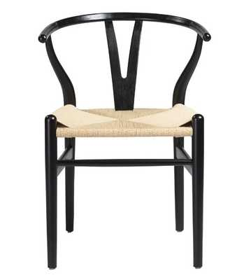 CYLIA DINING CHAIR, BLACK (SET OF 2) - Lulu and Georgia