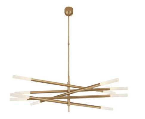 Rousseau Grande Ten Light Articulating Chandelier - Circa Lighting